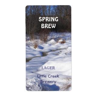 Snowy Brook ~ Beer bottle Label
