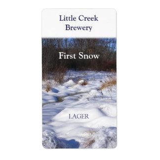 Snowy Brook ~ Beer Wine Label
