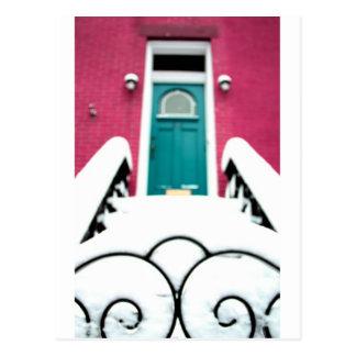 Snowy Brooklyn Brownstone Postcard