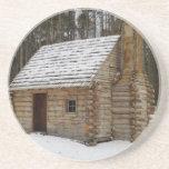 Snowy Cabin Coasters