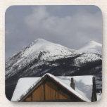 Snowy Cabin Drink Coaster