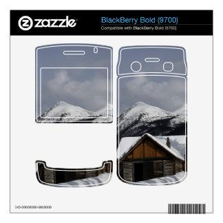 Snowy Cabin Skins For BlackBerry