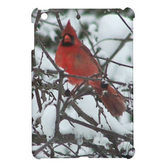 Snowy Cardinal iPad Mini Cases