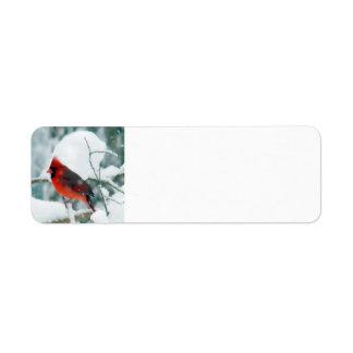 Snowy Cardinal Return Address Label