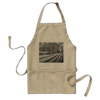 Snowy Central Park Adult Apron