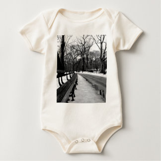 Snowy Central Park Baby Bodysuit