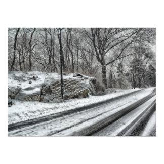 Snowy Central Park Invitations
