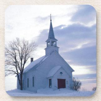 Snowy Chapel Coaster