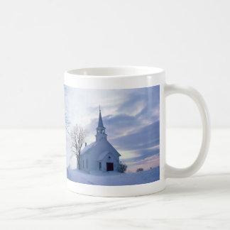 Snowy Chapel Coffee Mug