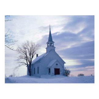 Snowy Chapel Postcard