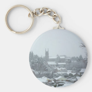Snowy Christ Church I Keychain