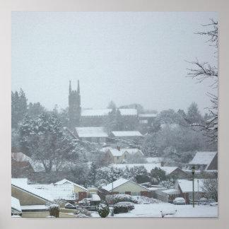 Snowy Christ Church I Poster