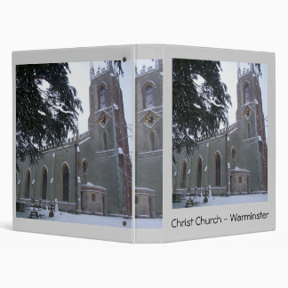 Snowy Christ Church III 3 Ring Binder