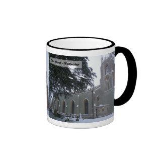 Snowy Christ Church III Ringer Coffee Mug
