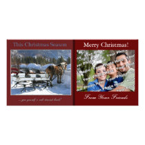 Snowy Christmas Break Photo Card