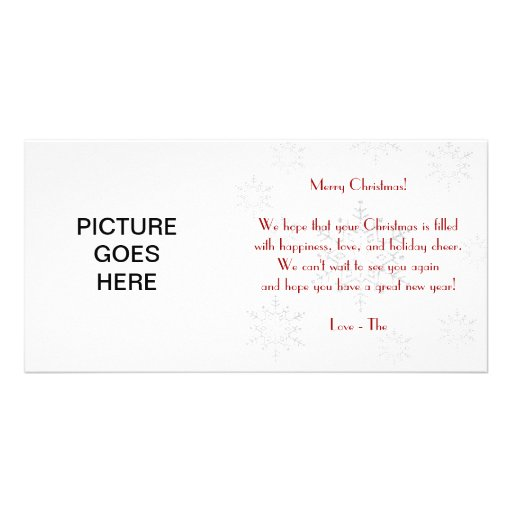 Snowy Christmas Card Personalized Photo Card