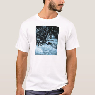 Snowy Christmas in New York City Vintage T-Shirt