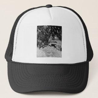 Snowy Christmas in New York City Vintage Trucker Hat
