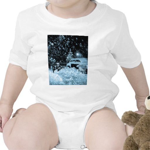 Snowy Christmas in New York City Vintage Tee Shirts