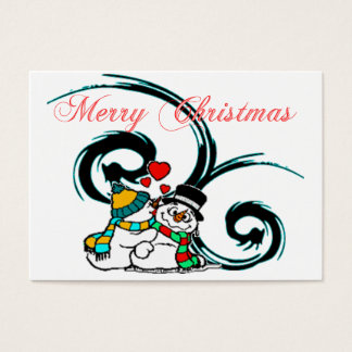 Snowy Christmas Love Recipe Cards