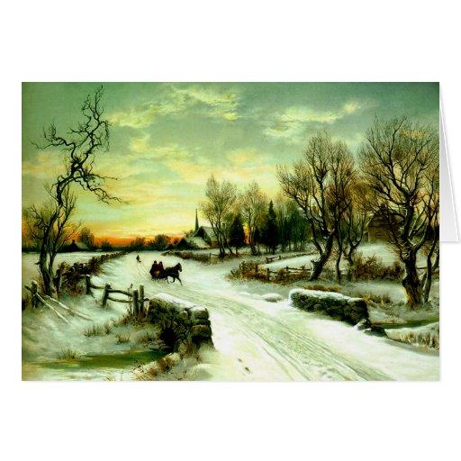 Snowy Christmas morning Card