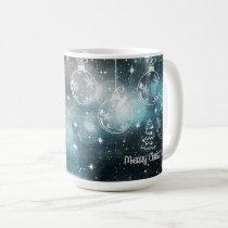 Snowy Christmas Ornaments Merry Christmas Mug