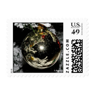 """""""Snowy Christmas"""" Postage Stamps"""