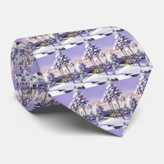 Snowy Christmas Tie