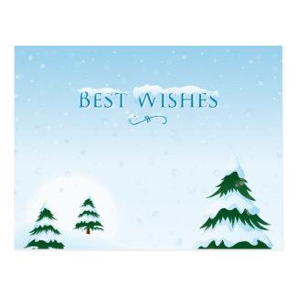 Snowy Christmas Tree 1 Postcard