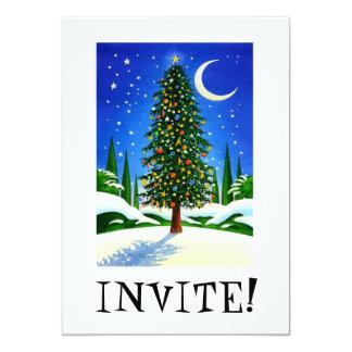 Snowy Christmas Tree 5x7 Paper Invitation Card