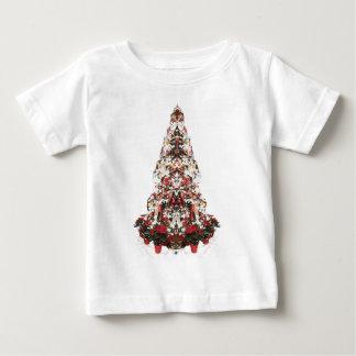 Snowy Christmas Tree Baby T-Shirt