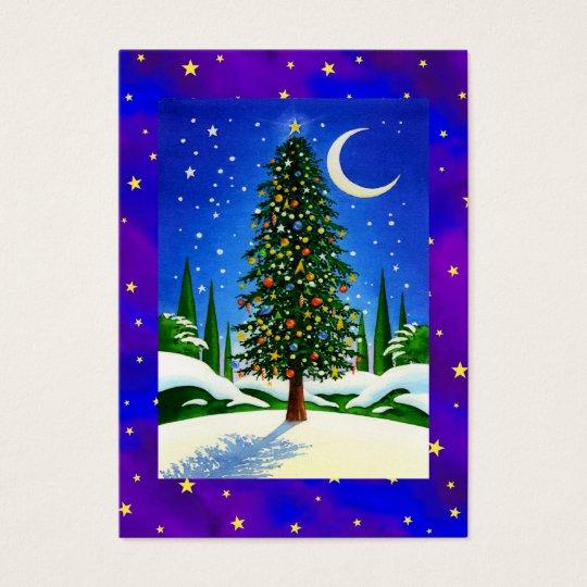 Snowy Christmas Tree Business Card