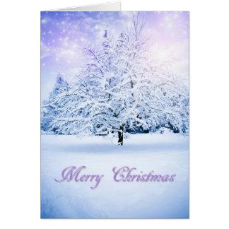 Snowy Christmas Tree Card