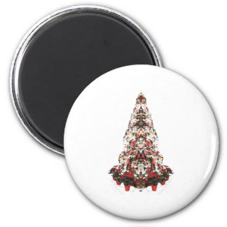 Snowy Christmas Tree Magnets