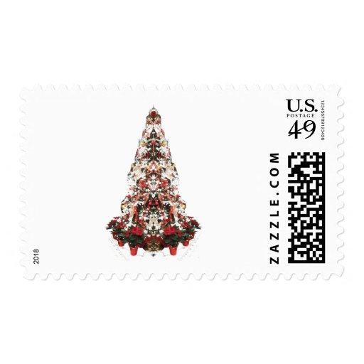 Snowy Christmas Tree Postage Stamp