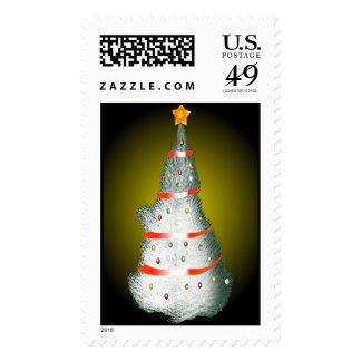 Snowy Christmas Tree Stamps