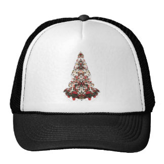 Snowy Christmas Tree Trucker Hat
