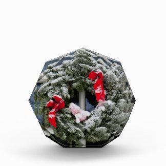 Snowy christmas wreath award