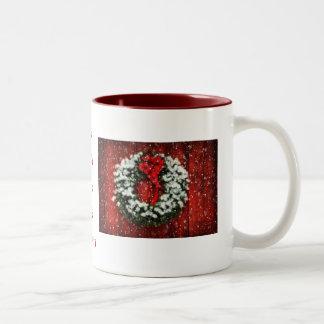 Snowy Christmas Wreath Mug