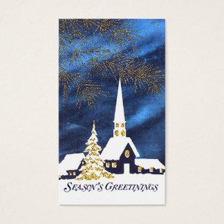 Snowy Church Christmas Gift Tags