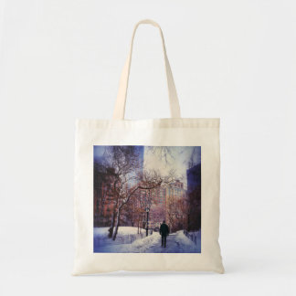 Snowy City Stroll Tote Bag