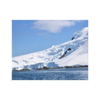 Snowy Coastline Canvas Print