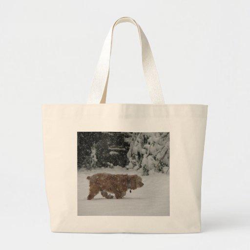Snowy Cocker Spaniel Tote Bags