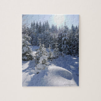Snowy cold winter landscape 2 jigsaw puzzle