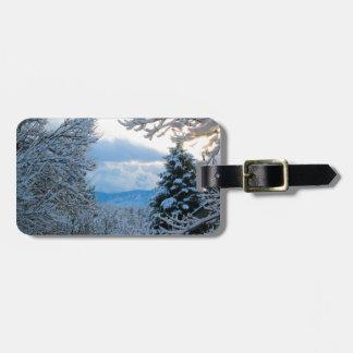 Snowy Colorado Luggage Tag