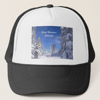 Snowy Colorado Rocky Mountains Trucker Hat