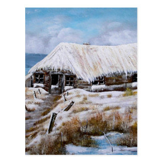 Snowy Cottage Postcard