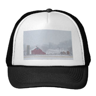 Snowy Country Winter Day Trucker Hat