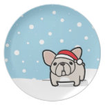 Snowy Cream Frenchie Plate