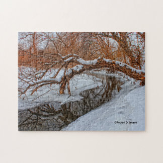 Snowy Creek with a Tree PUZZLE